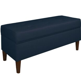 Ramey Tufted Soft Linen Upholstery Storage Bench
