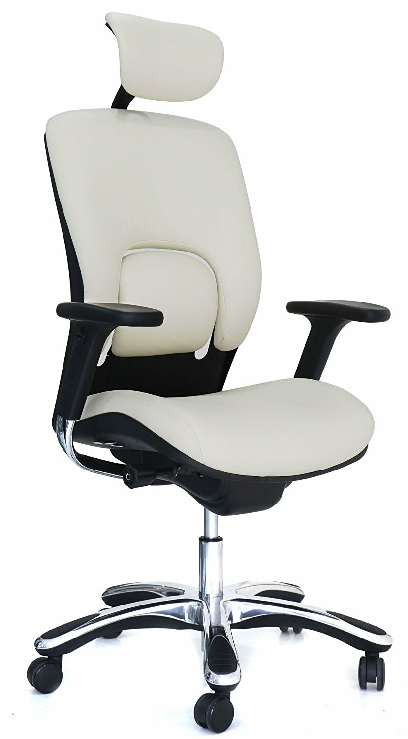 office chair genuine leather white. Office Chair Genuine Leather White S