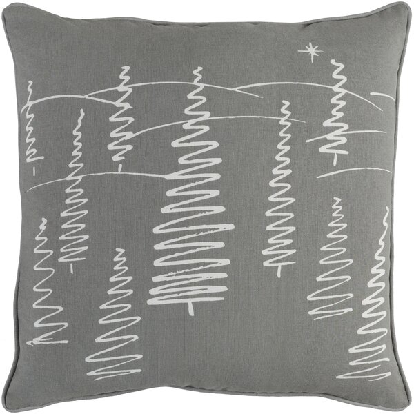 Pisani Evergreen Cotton Throw Pillow Cover by Loon Peak
