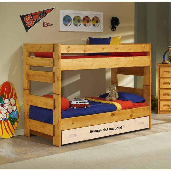 Alerburry Twin Over Twin Bunk Bed by Harriet Bee