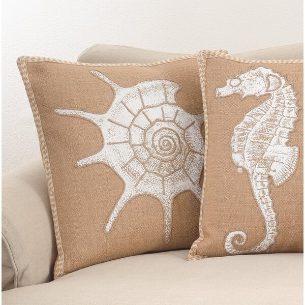 Aloisia Show and Shell Down Filled Throw Pillow by Highland Dunes