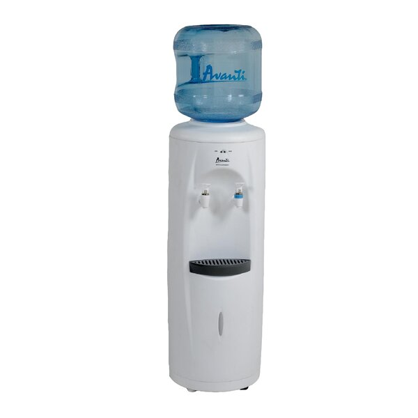 Free-Standing Room Temperature and Cold Electric Water Cooler by Avanti Products