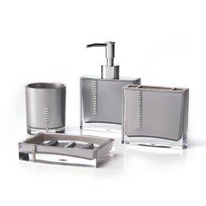 gray bathroom accessories set. Cristal 4 Piece Bathroom Accessory Set Grey Accessories You ll Love  Wayfair