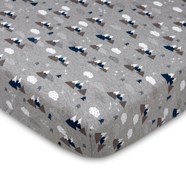 Peaks Crib Fitted Sheet by Lolli Living
