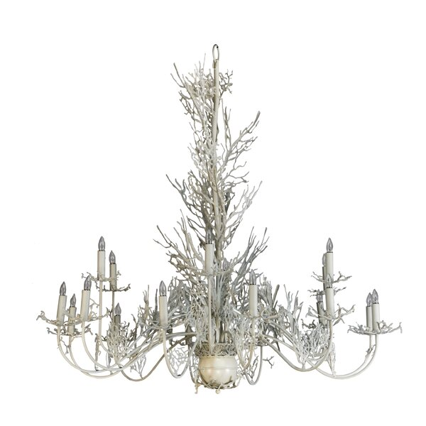 Danielsville 18 - Light Candle Style Classic / Traditional Chandelier by Loon Peak Loon Peak