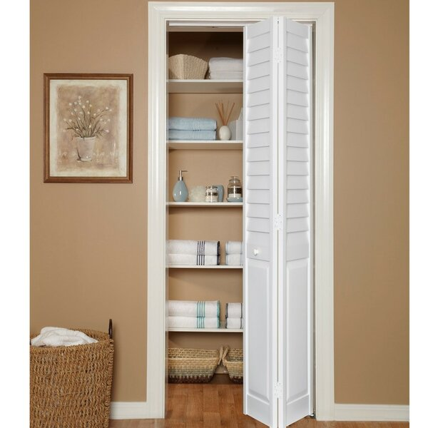 LVR/PNL Solid Wood Louvered PVC Bi-Fold Door by Home Fashion Technologies