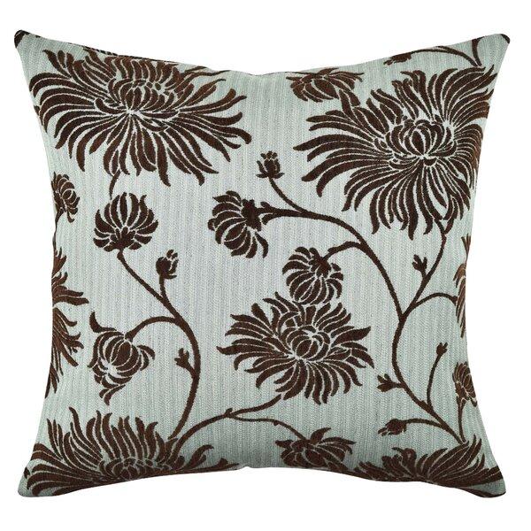ELLEN TRACY Floral Flocked Throw Pillow by Vesper Lane