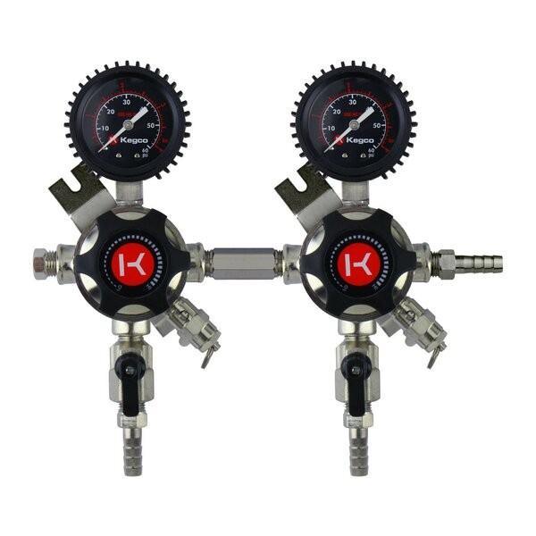 Elite Series Secondary Dual Tap Regulator by Kegco