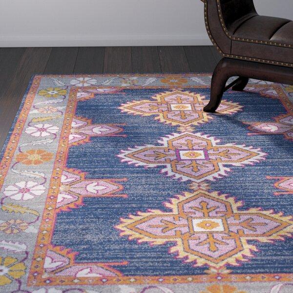 Arteaga Persian Inspired Dark Blue Area Rug by Bungalow Rose