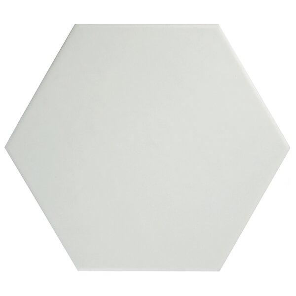 Hexitile 7 x 8 Porcelain Mosaic Tile in Matte White by EliteTile