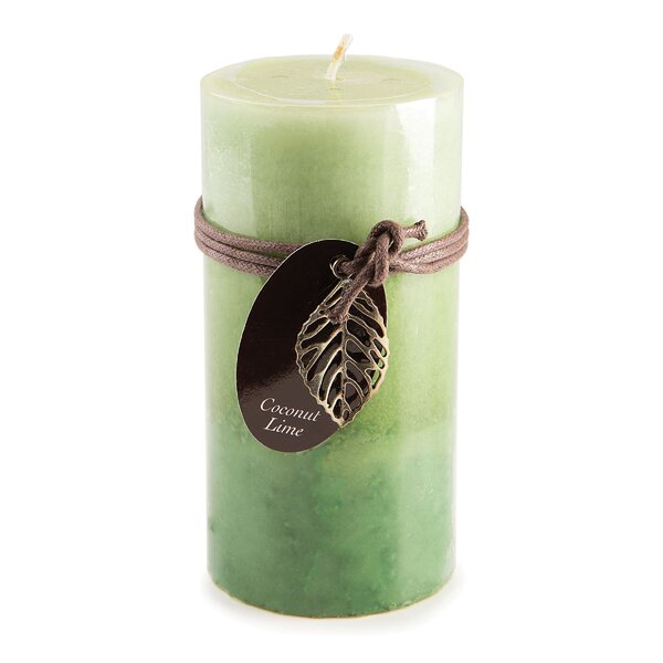 Coconut Lime Pillar Scented Candle by Bay Isle Home
