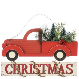 christmas truck hanging figurine