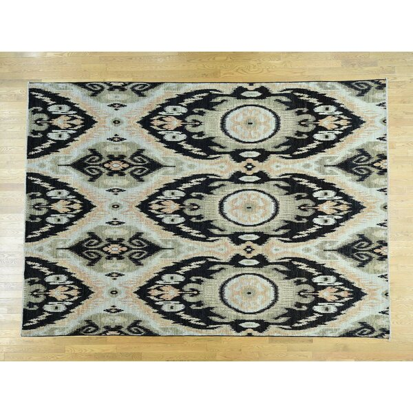 One-of-a-Kind Christopher Ikat Uzbek Design Handwoven Wool Area Rug by Isabelline