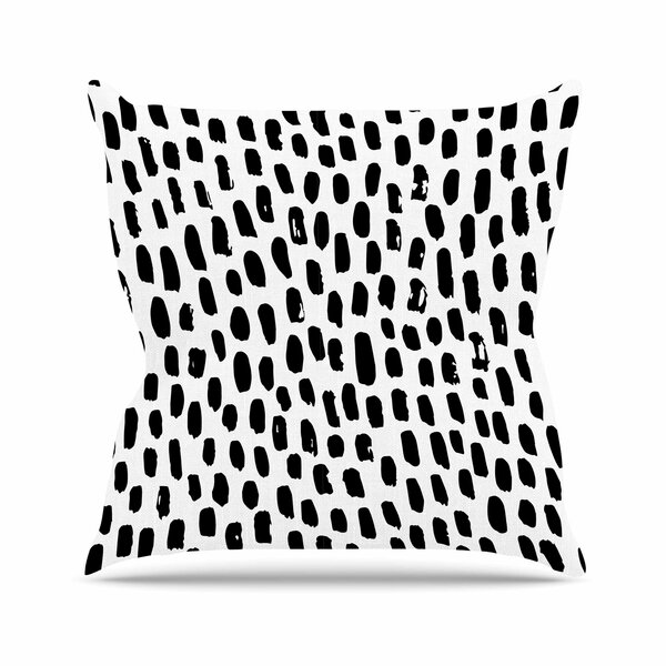 Ink Dots Outdoor Throw Pillow by East Urban Home
