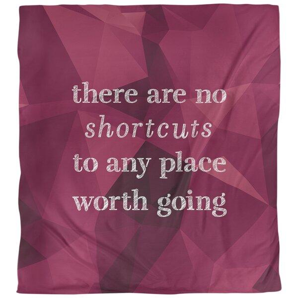 Quotes Faux Gemstone No Shortcuts Single Reversible Duvet Cover