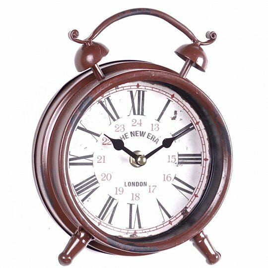 Metal Alarm Tabletop Clock by August Grove