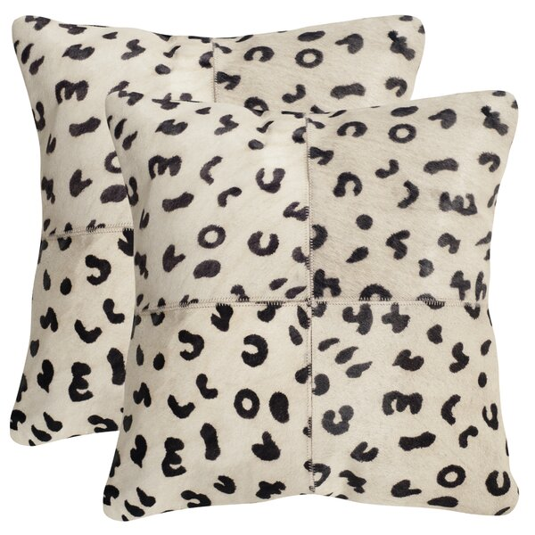 Holton Cow Hide Suede Throw Pillow (Set of 2) by Bloomsbury Market