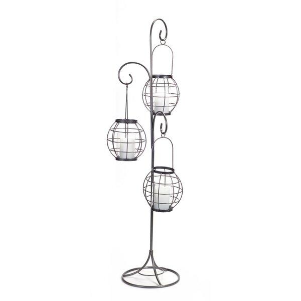 3 Hanging Metal/Glass Lantern by Melrose International