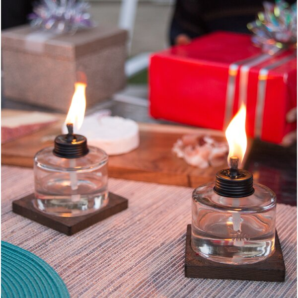 Mixed Material Votive Glass Tabletop Torch (Set of 3) by TIKI Brand