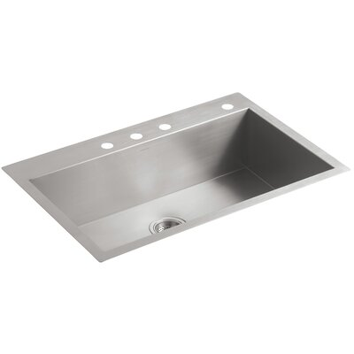 Mount Under Mount Large Kitchen Sink Single Bowl Faucet Holes photo