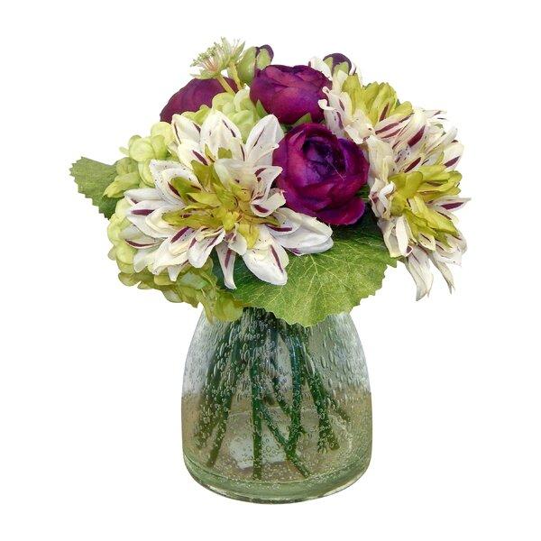 Garden Bouquet Mixed Centerpiece in Terrarium Vase by Alcott Hill