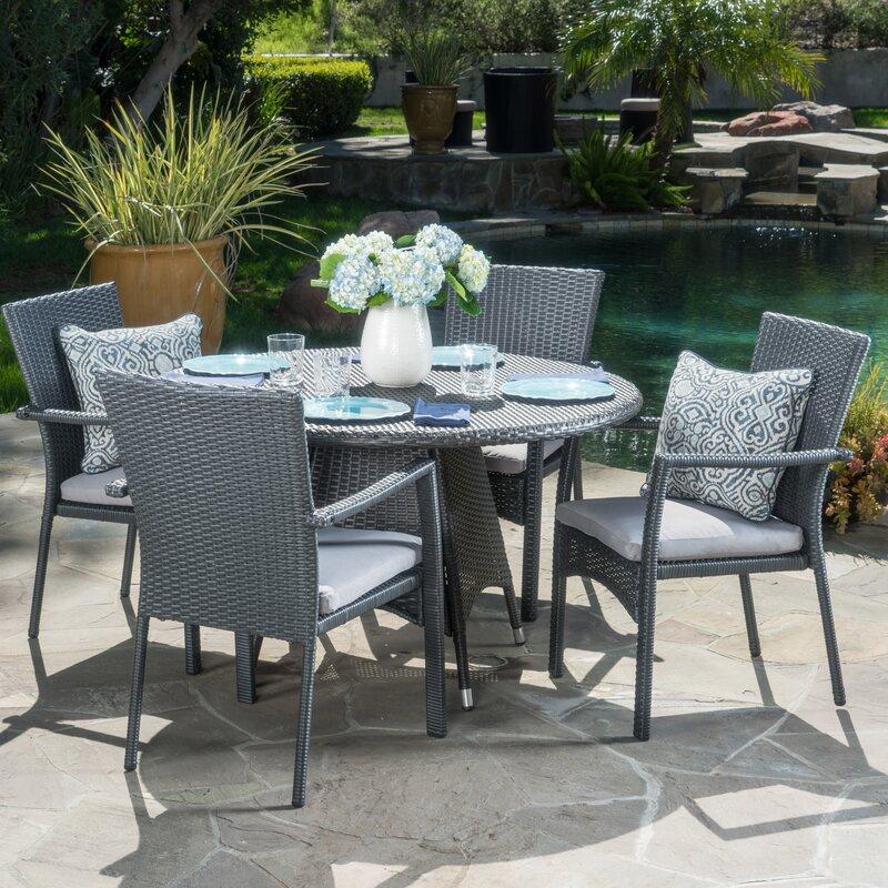 Ashley Furniture In Brandon Fl: Brandon 5 Piece Dining Set With Cushion & Reviews