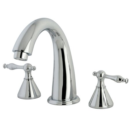 Naples Double Handle Roman Tub Faucet by Kingston Brass