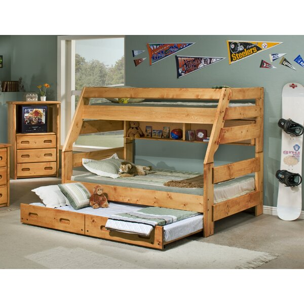 Brieley Twin Over Full Bunk Bed with Trundle by Harriet Bee