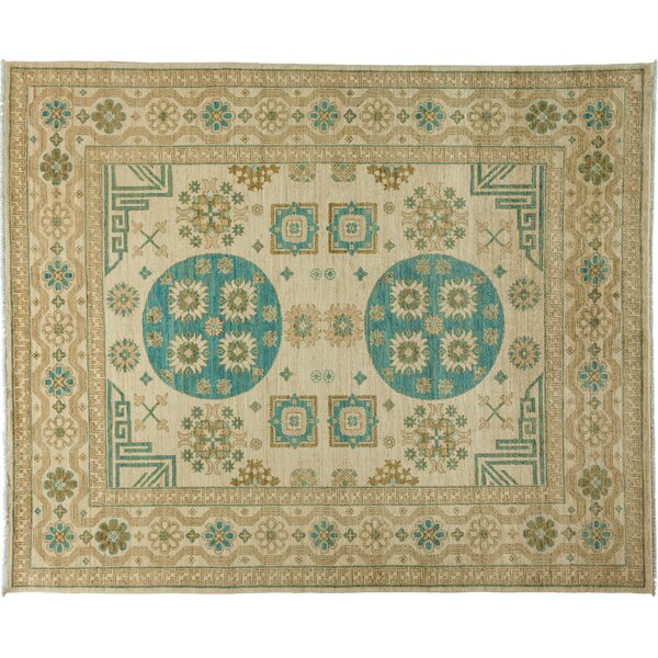 One-of-a-Kind Khotan Hand-Knotted Ivory Area Rug by Darya Rugs