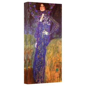 ''Emilie Floege'' by Gustav Klimt Print of Painting on Canvas by ArtWall