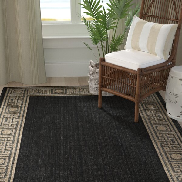 Amaryllis Black/Coffee Indoor/Outdoor Rug by Bay Isle Home