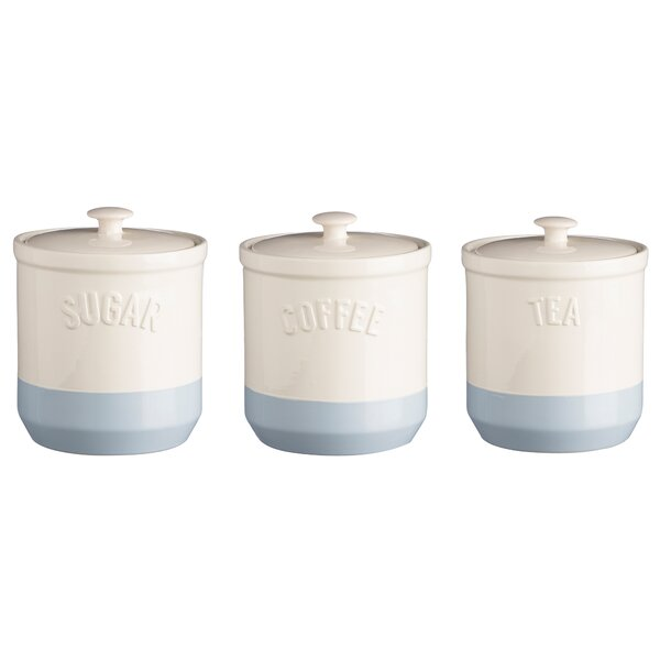 Adena 3 Piece Coffee, Tea, & Sugar Jar Set by Mint Pantry