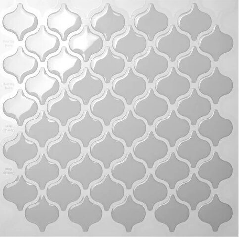 9.5 x 10 Peel & Stick Mosaic Tile in Grigio by Tic Tac Tiles