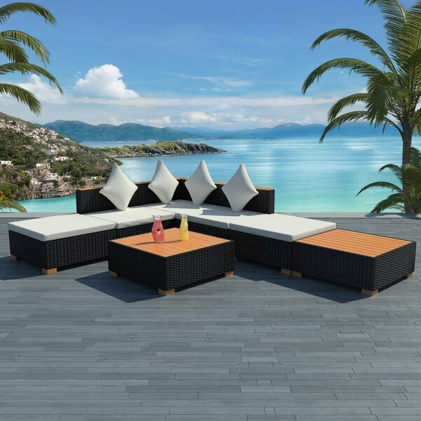 Torquay Garden 7 Piece Sectional Seating Group with Cushions by Ivy Bronx