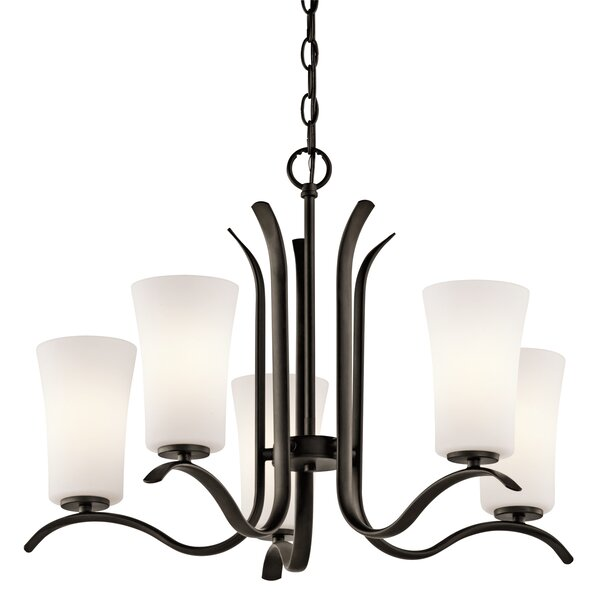 Guerro 5-Light Shaded Classic / Traditional Chandelier by Alcott Hill Alcott Hill