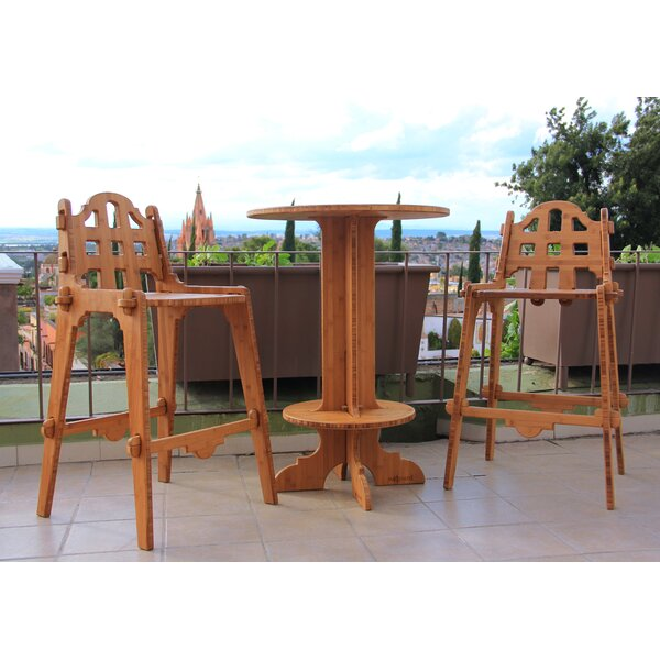 Palladian Line 3 Piece Bar Height Dining Set by Wedgewood Furniture Wedgewood Furniture