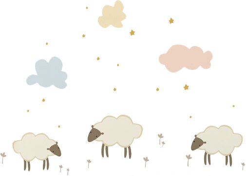 Piccolo Little Sheeps Wall Decal by ADZif