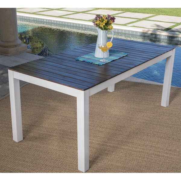 Veronica Solid Wood Dining Table by Highland Dunes