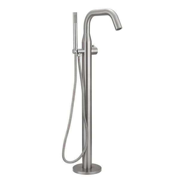 Single Handle Floor Mounted Freestanding Tub Filler with Handheld Shower by HEATGENE HEATGENE