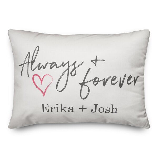 Rogalski Always and Forever Personalized Outdoor Lumbar Pillow by Winston Porter