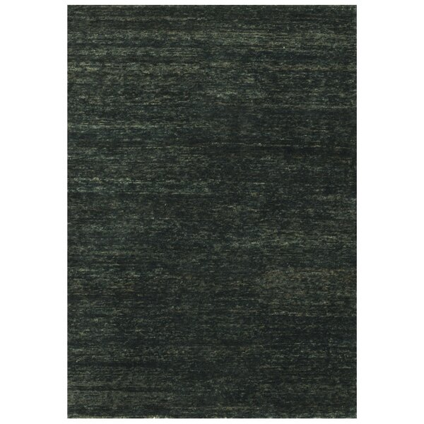 Avey Hand-Knotted Ebony Area Rug by Red Barrel Studio