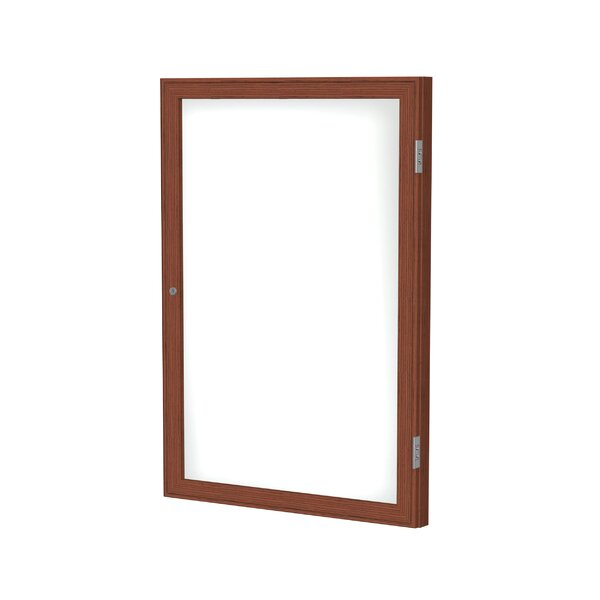 Ghent 1 Door Enclosed Porcelain Magnetic Whiteboard with  Wood Frame by Ghent