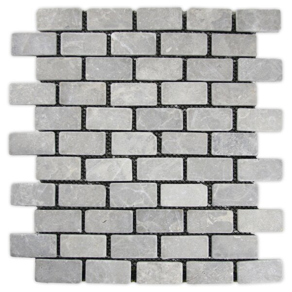 Desna 1 x 2 Natural Stone Mosaic Tile in Light Gray by CNK Tile