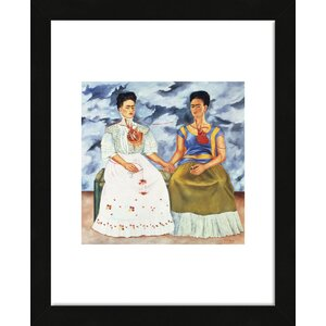 'The Two Fridas, 1939' by Frida Kahlo Framed Painting Print by McGaw Graphics