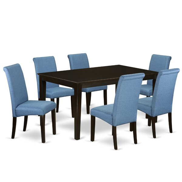 Paramore 7 Piece Solid Wood Dining Set by Red Barrel Studio Red Barrel Studio