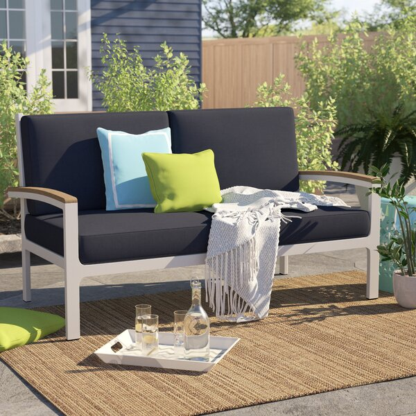 Caspian Loveseat with Cushions by Sol 72 Outdoor