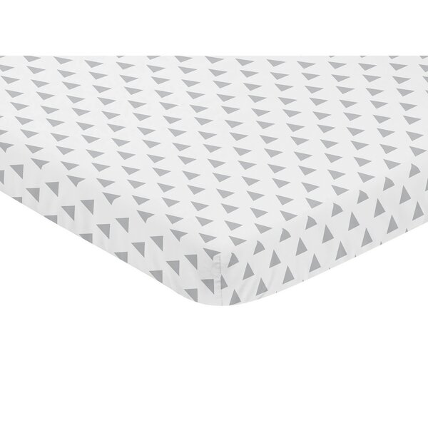 Earth and Sky Triangle Print Fitted Mini Crib Sheet by Sweet Jojo Designs