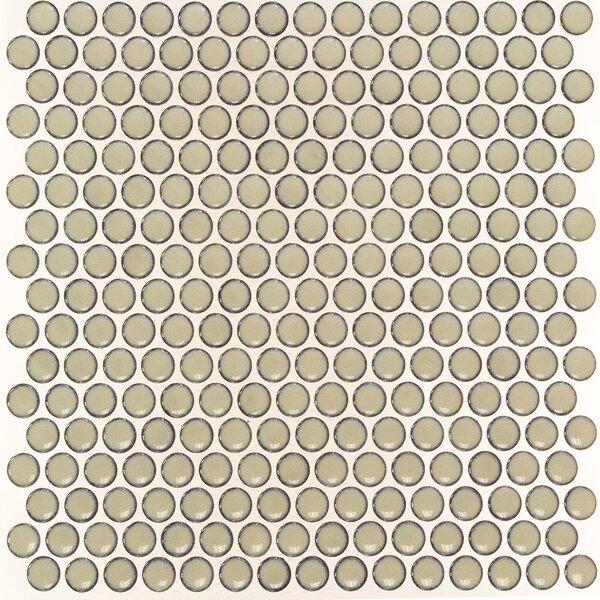 Bliss 0.75 x 0.75 Ceramic Mosaic Tile in Khaki by Splashback Tile