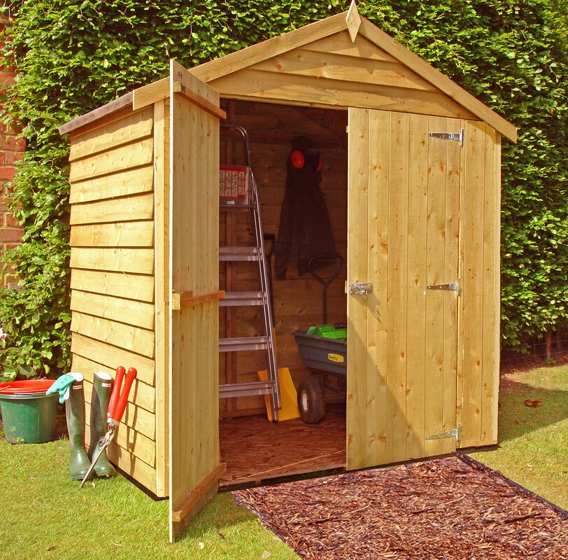 4 x 6 wooden storage shed