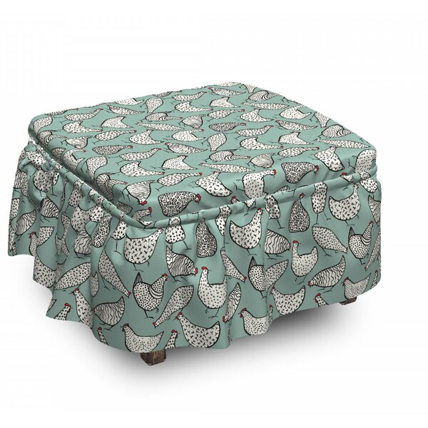Poultry Polka Dots Animal Ottoman Slipcover (Set Of 2) By East Urban Home